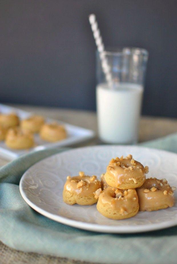 Maple Peanut Butter Mini Doughnuts | www.SimplyScratch.com # ...
