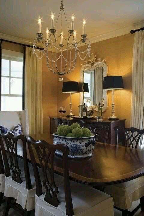 Marvelous dining room interior decor pinterest for Dining room designs pinterest