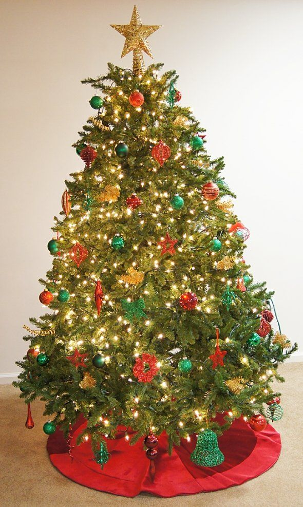 Red Green Christmas Tree Christmas Tree Beauty Pinterest