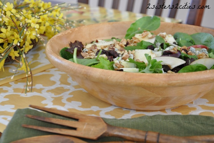 Apple, Walnut, and Blue Cheese Salad. Have for lunch on its own or ...
