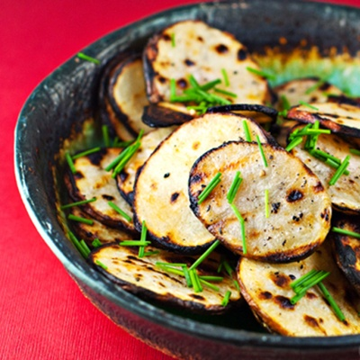 ... guilty pleasure!… grilled salt and vinegar potato «chips