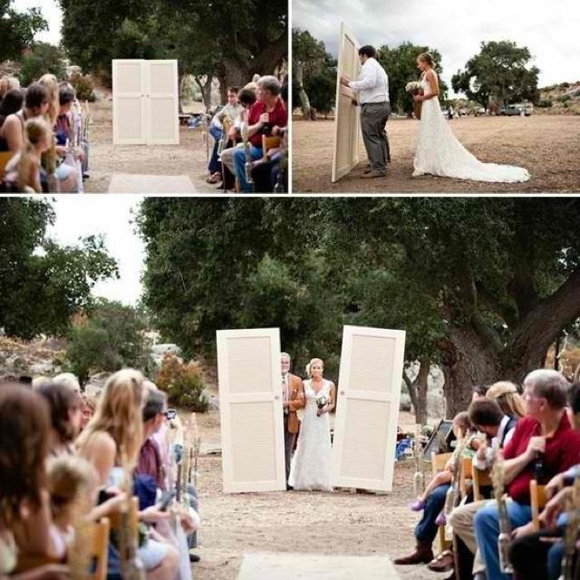 Outdoor Wedding Bride Entrance