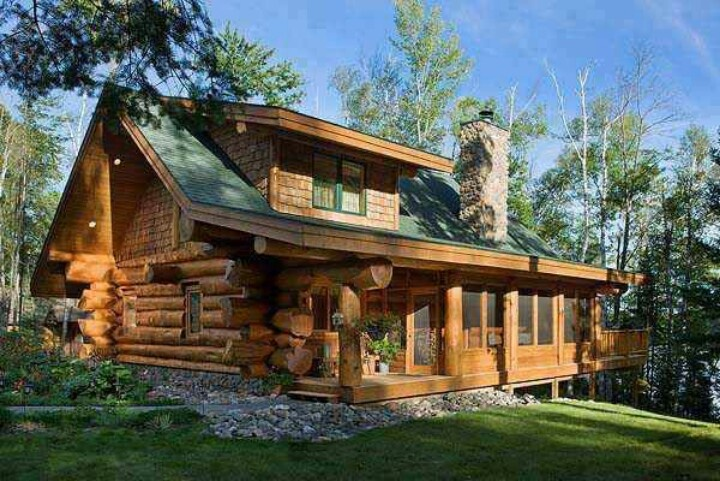 Log Cabin Cozy Homes Rooms Pinterest