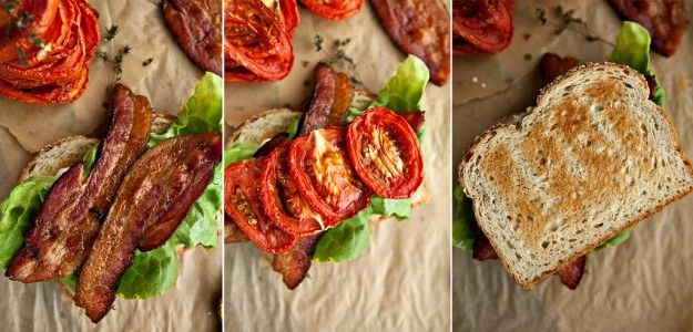 Roasted Tomato BLT I've been pining for yummy/fresh tomatoes...a good ...