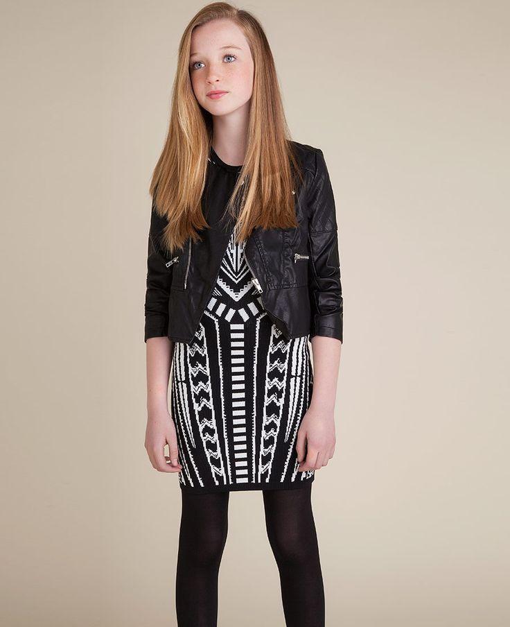 Girl s modern geo dress bardot junior girls 8 16 pinterest
