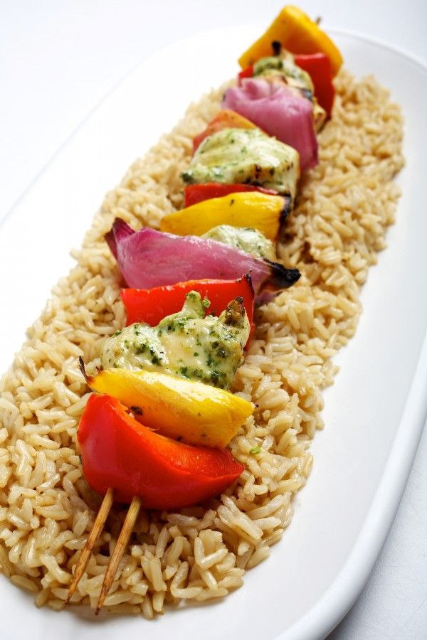 Cilantro-Lime Garlic Chicken and Mango Kebabs | Recipe