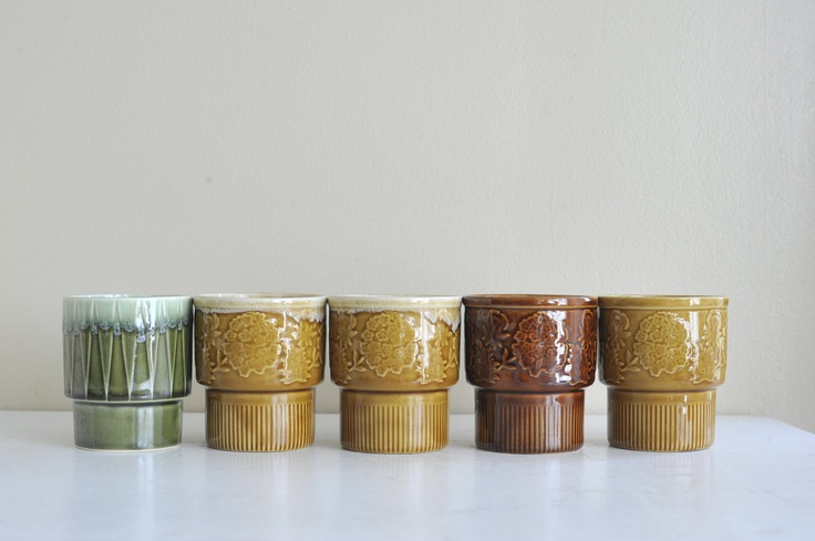 Five Made in Japan Ceramic Stacking MugsJapanese Ceramic Mugs