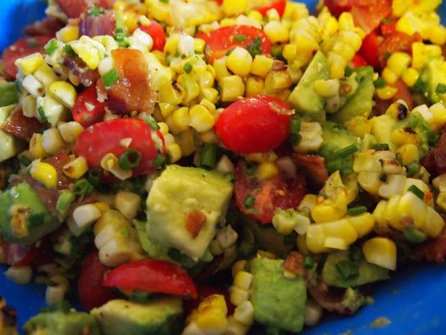 College Cooking Underground: BLT Corn Salad Wraps