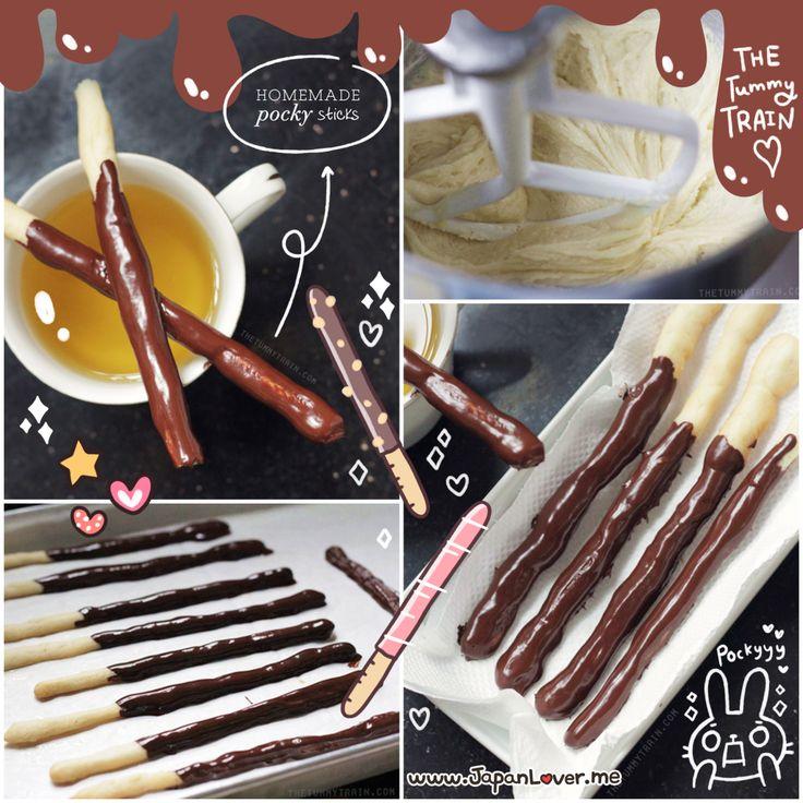 おいしい Homemade Pocky Sticks Tutorial | Sweets for my Sweet ...