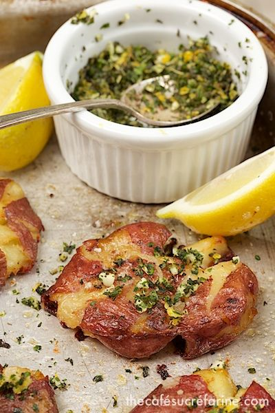 Smashed Potatoes w/ Fresh Herb Gremolata | Food to try... | Pinterest