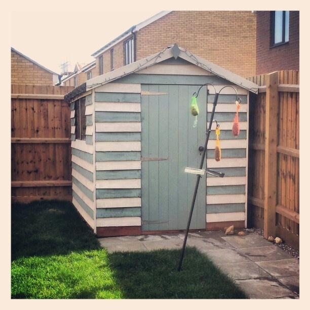 my beach hut style garden shed beach hut ideas pinterest