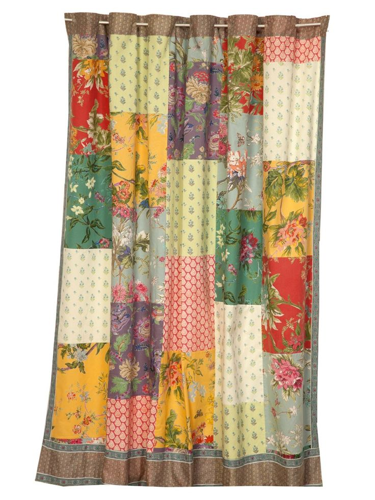 Patchwork Shower Curtain Keria 72x75 Gathering Home