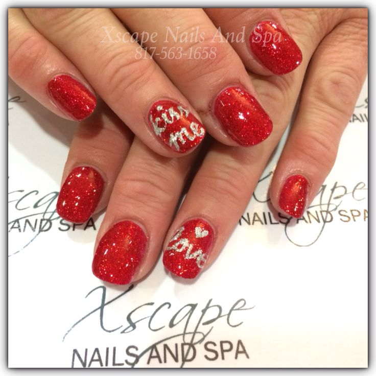 simple valentine nail designs