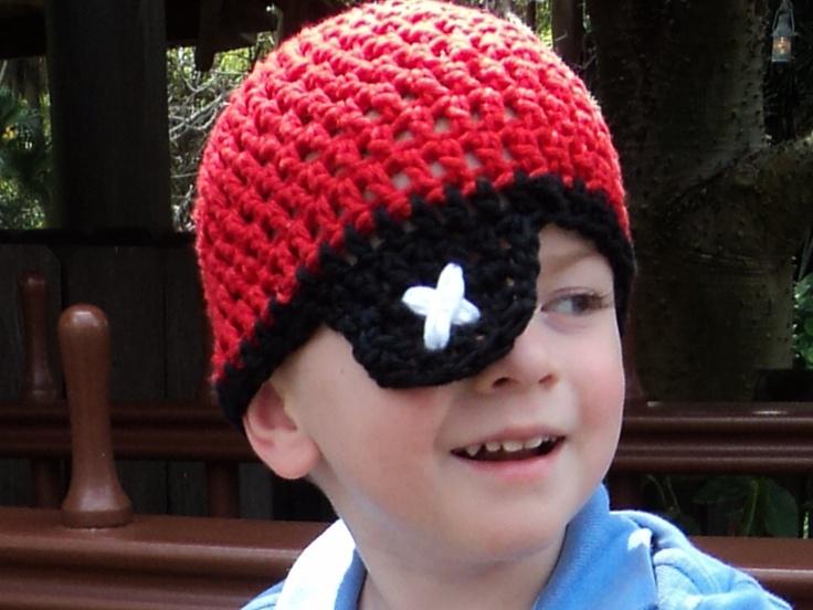 Crochet Hat Patterns Adults : CROCHET PATTERN, Pirate Hat Newborn- Adult