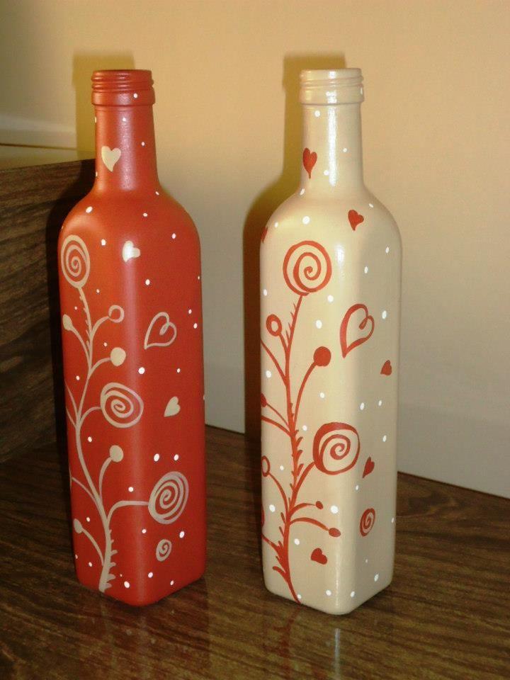 Botellas decoradas loving the art pinterest - Botellas de vino decoradas ...
