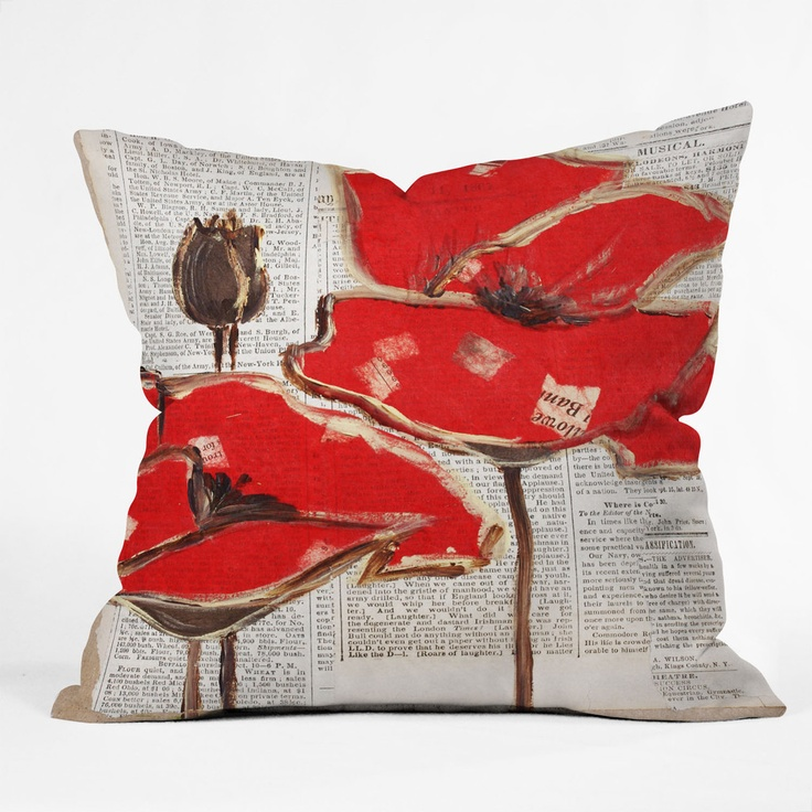 Irena Orlov Red Perfection Throw Pillow