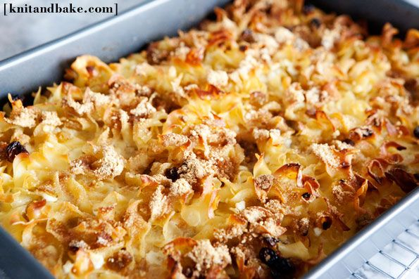 easy kugel recipe (eggs, raisins, egg noodles, cottage cheese, milk ...