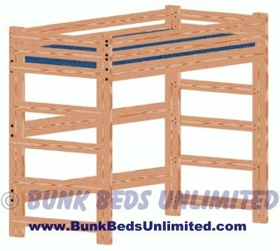 Extra Long Twin Loft Bed Plans, Dimensions... - Amazing Wood Plans