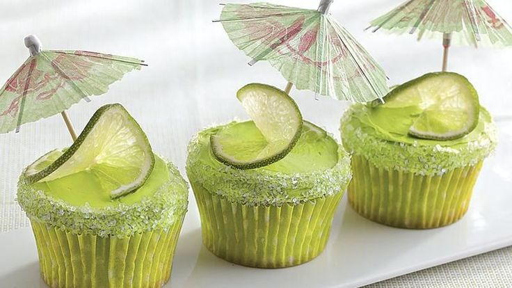 ... cake mix and frosting to make these margarita cupcakes – a perfect
