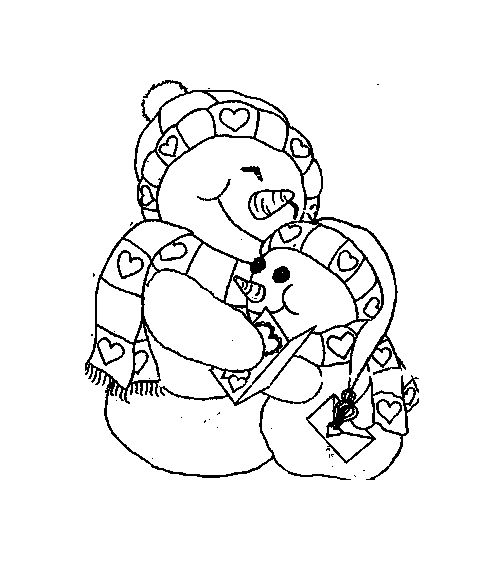 Christmas snowman coloring pages snow board pinterest