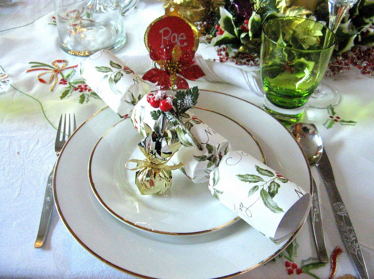 christmas lunch table setting life is style pinterest