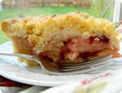 Apple Cranberry Crumble Pie | YUM Calories! | Pinterest