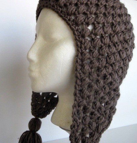 Crochet Pattern Hat With Ear Flaps : Crochet hat with ear flaps DIY Pinterest