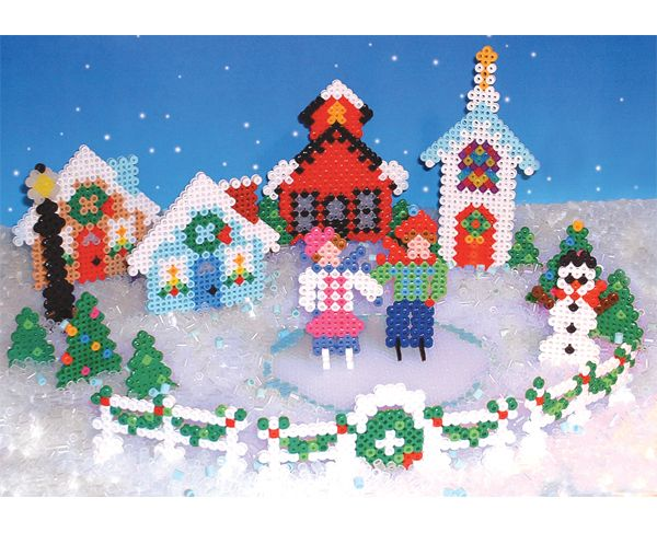 Holiday Village Perler Beads Pinterest