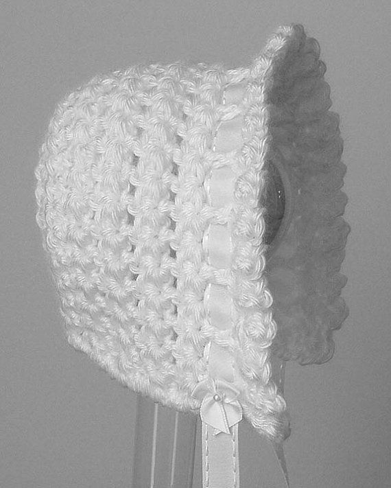 Crochet Stitches Ruffle : PDF CROCHET PATTERN Star Stitch Ruffle Bonnet preemie to 12 month siz ...