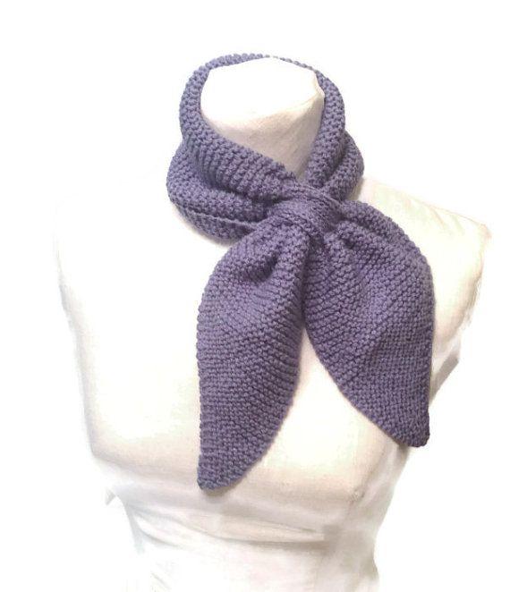 Keyhole Scarf Knitting Pattern : Knit Neck Scarf Pattern Ascot Knit Pattern, Keyhole Scarf Knit Patter?