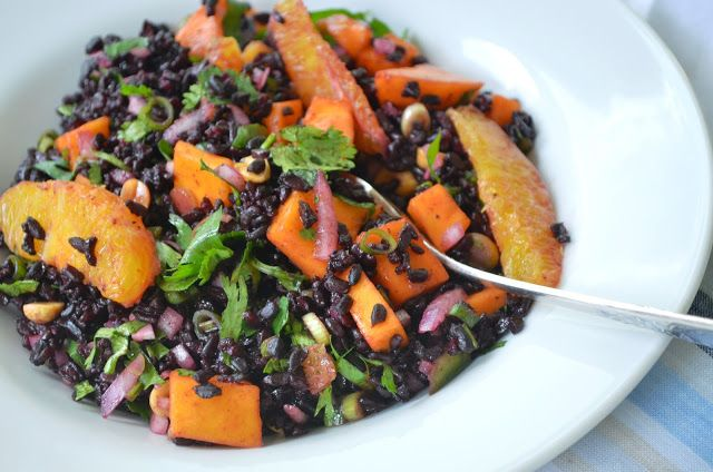 Black Rice Salad with Mango and Peanuts | clean healthy recipes | Pin ...