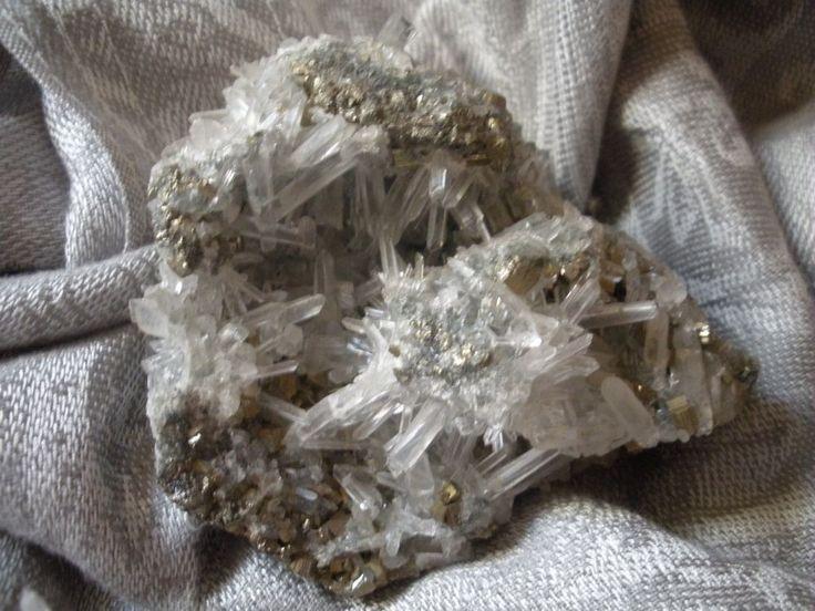 Quartz Crystals With Pyrite ClusterQuartz Crystals Cluster