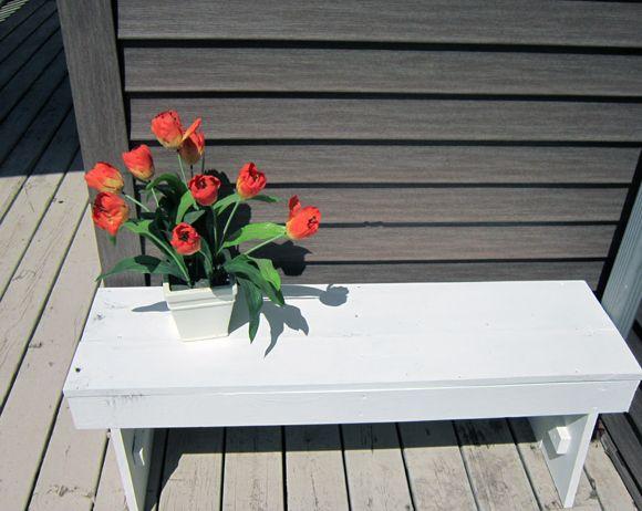 DIY bench | Pallett Furniture and other stuff to make | Pinterest
