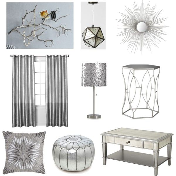 """Silver Accents"" by blue11interiors on Polyvore"