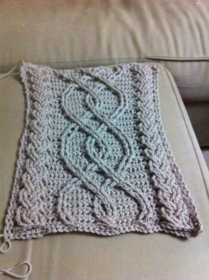 Crocheting Cables : Crochet cables (one section) Crochet Pinterest