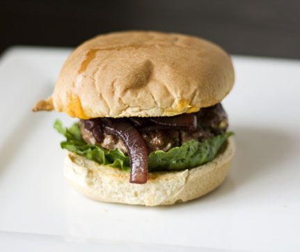 ... make it. Bison Burgers with Cabernet Onions and Wisconsin Cheddar