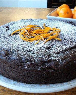 Gluten free, Dairy free, and no added fat!! Chocolate Mandarin Cake
