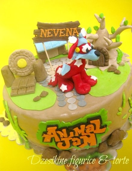 Animal Jam  Cake by Dzesikacakescupcakes