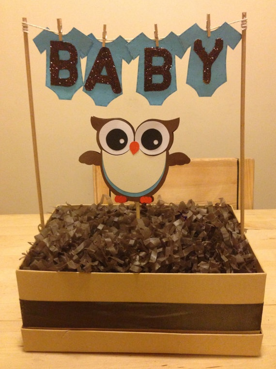 owl baby shower centerpieces by cutecreationshop1 on etsy