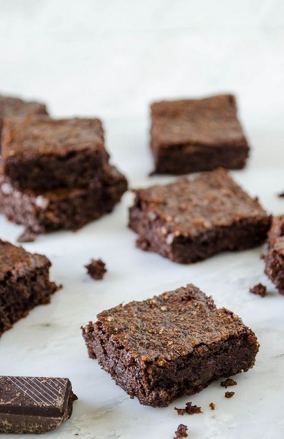 Rich Dark Chocolate Brownies (Gluten Free, Vegan, Refined Sugar Free ...