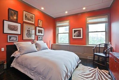 Burnt orange with gray trim for the home - Grey and burnt orange rooms ...