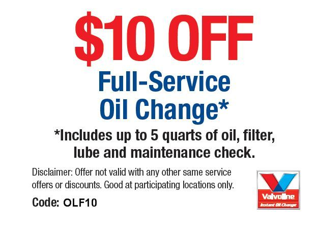 Discount coupons for oil changes