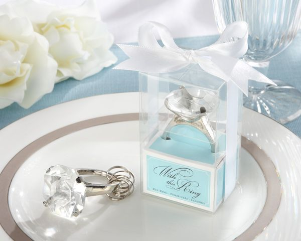 Engagement Ring Keychain Favors