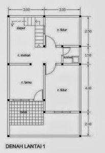 Denah Rumah Minimalis 2 Lantai Type 45 | Minimalist Home Design | Pin ...