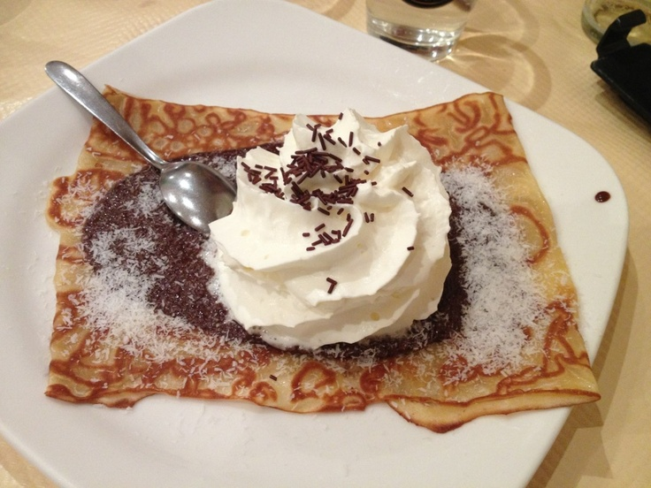 Chocolate coconut crepe | crepes suzette | Pinterest