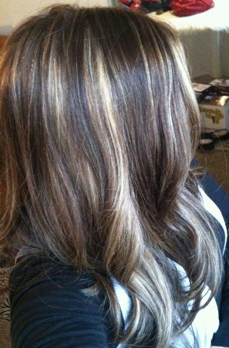 Partial Caramel Highlights | Dark Brown Hairs