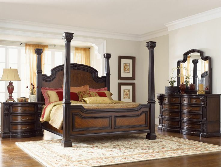 Fairmont Designs Grand Estates 4 Pc Poster Bedroom Set In Cinnamon