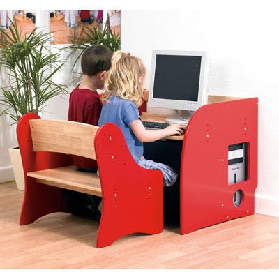 computer desk with bench seat