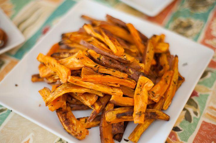 Roasted Sweet Potatoes Ingredients: • 2 Sweet Potatoes • Herb of ...