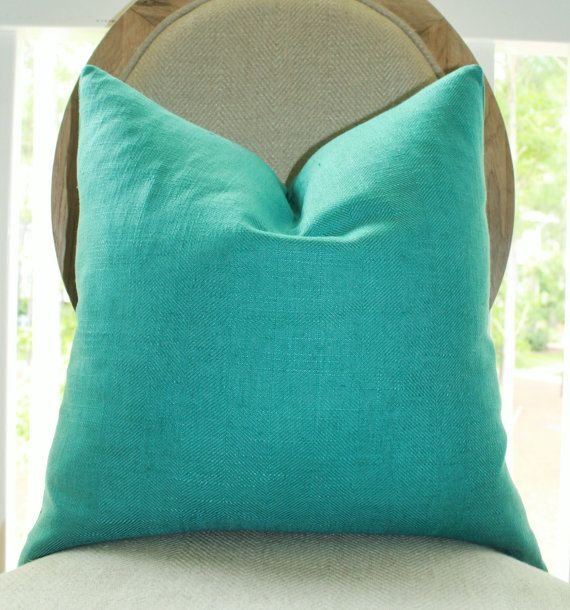 Teal Green Decorative Pillows : Decorative Turquoise Blue Pillow - Teal Green Pillow Cover - Turquois?